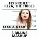 Fly Project, Reza, The Tribes - Like A Star (3 BRAINS Mashup)